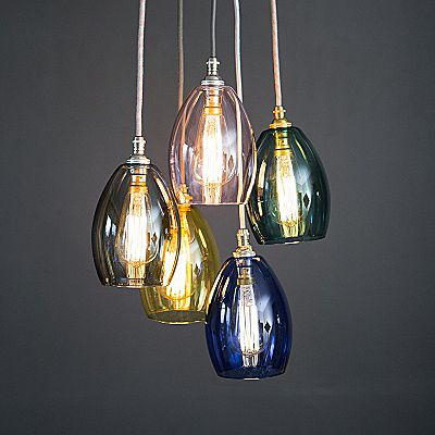 Glass Cluster Pendant Light