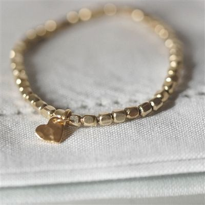 Gold Nugget Heart Bracelet