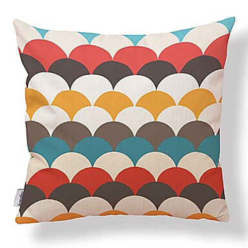 Set of 6 Bright Geometrics Cushion Covers